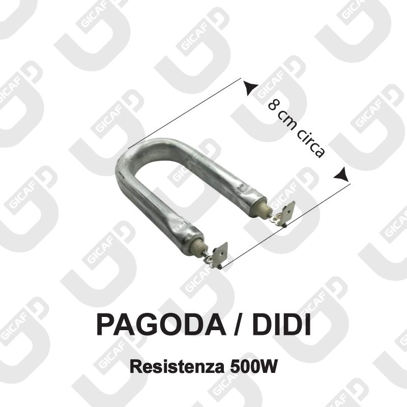 Resistenza a U 500W Didi \ Pagoda- Didiesse