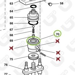 Filtro portacialda inox ese44 - Grimac