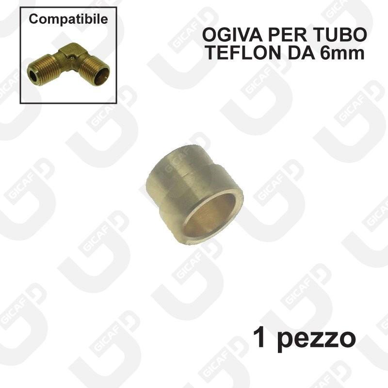Ogiva esterna per tubo teflon 6x4mm - 1 Pezzo