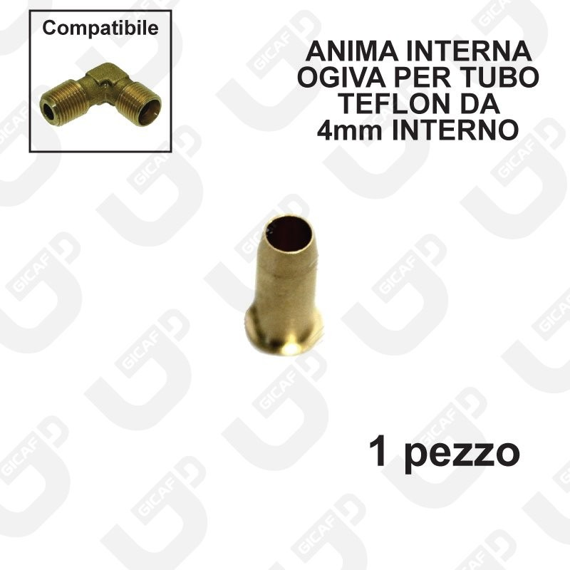 Anima interna ogiva per tubo teflon 6x4mm - 1 Pezzo
