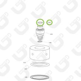 Guarnizione cicler superiore - Spinel
