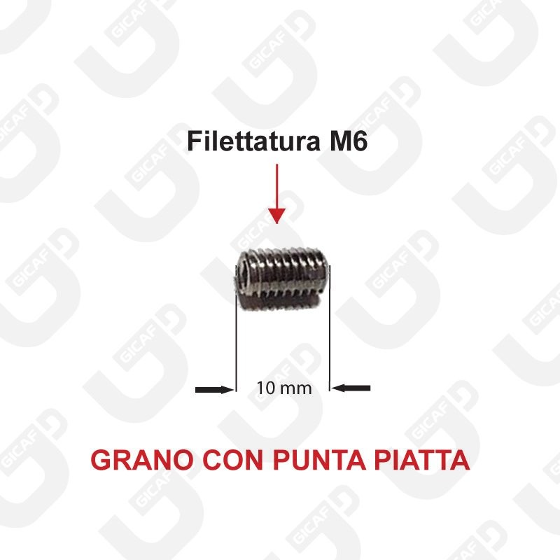 Grano piastra M6x10mm - Spinel