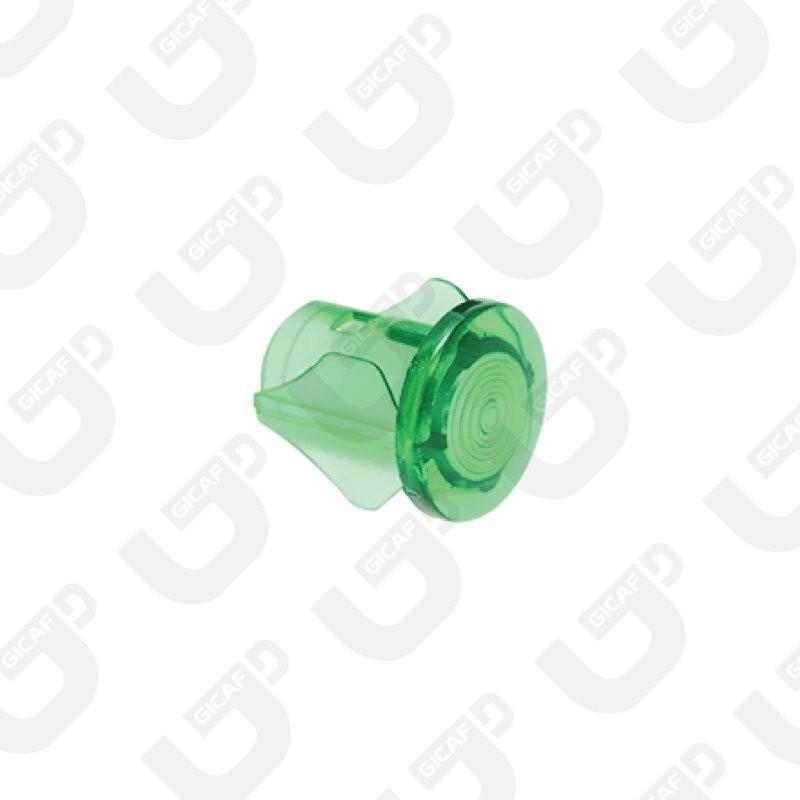 Gemma piatta verde d.10 - Spinel
