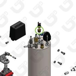 """Tappo 1/4"""" gas per termostato caldaia vapore - Spinel"""