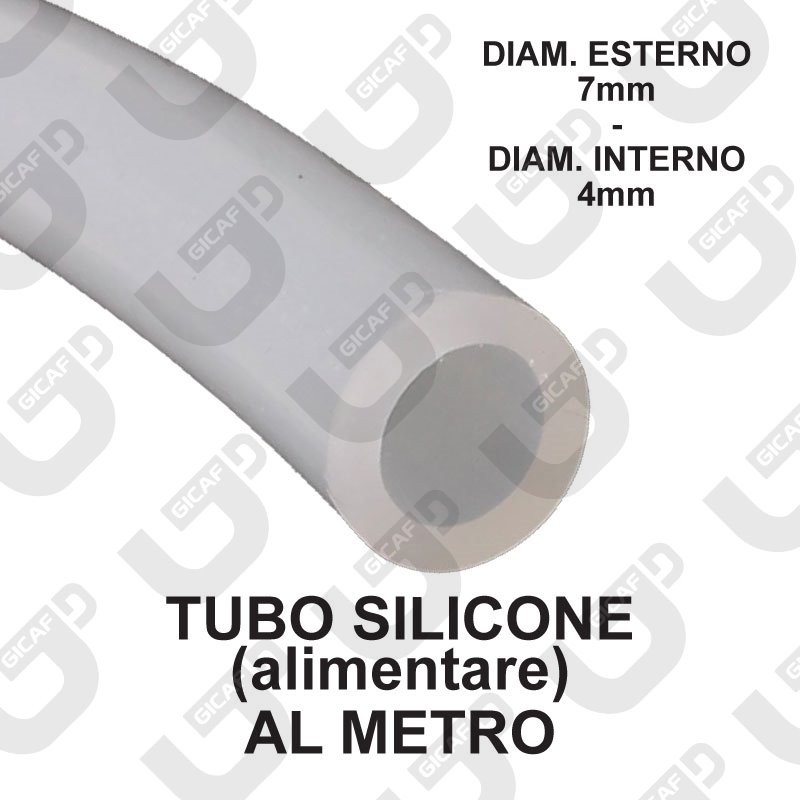 Tubo silicone alimentare 7x4mm - Universale